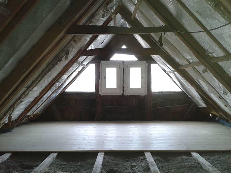 Wärmedämmung im Dachgeschoss